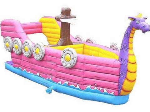 Inflatable Dragon Boat Slide