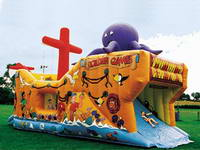 Attractive Octopus Monster Inflatable Pirate Ship Bouncer for Sale