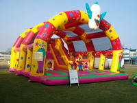 Inflatable Clown Funny Fun City with Cover Playground