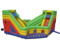 Best Time Inflatable 2-Lanes Slide Obstacle Course