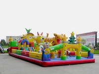 Inflatable Forest Animal Meeting Play Zone for Children