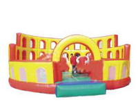 Inflatable Palace Obstacle Fun City Combo for Party Rental