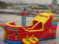 Inflatable Pirate Boat Bouncer Combo