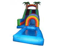 Inflatable Rainbow Tunnel Water Slide