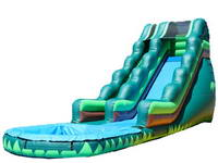 18ft Tropical Water Slide With Water Pool