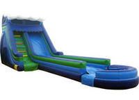 18ft Inflatable Breakwall Slip N Dip Slide