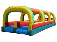 Double Lane Inflatable Slide With Water Slip N Slide