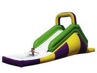 18ft Inflatable Single Slide With Water Pool