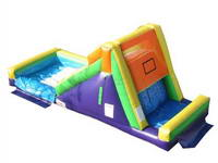 Inflatable Rock Climb Slide With Water Pool