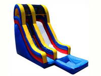 19ft Inflatable Slide With Water Splash Pool