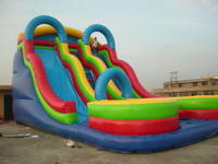 Attractive Big Velocity Vortex Slide Inflatable for Rental