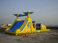 Inflatable Jungle Obstacle Course with Slide for Event Rental