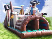 Inflatable obstacle course race  OBS-406