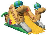 For Hire The Inflatable Dual Snakes Slide