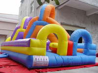 Twists and Turns Inflatable Slide for Kids