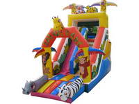 New Design Safari Park Inflatable Slide for Kids