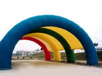 Colorful Inflatable Rainbow Shelter