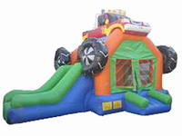 Inflatable Monster Truck Bounce Slide