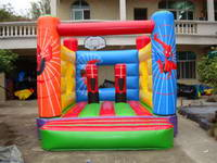 Inflatable Spiderman Jumping Castle BOU-378