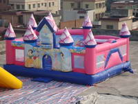 Full Color Digital Printing Inflatable Princess Castle for Sale