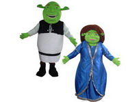 Ghostly Shrek and Fiona Mascot Costume for Adults