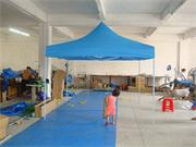 Light blue Folding Tent 3m by 3m without Side Pannels