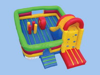 Inflatable Bounce House Slide Combo with Climbing Wall