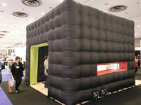 Small Black Inflatable Cube Tent for Trade Show