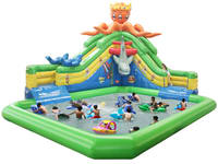 2017 New Design Inflatable Water Park with Octopus Water Slide