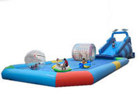 Customized Inflatable Pool and Water Slide Combo for Sale
