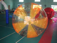 Orange and Transparent Water ball,Half Color Water Ball for sale