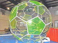 Football Shape Water Ball,Water Soccer Bubble Ball with Reinforced Strips