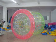 Great Fun Color Dots Inflatable Water Roller Ball for sale