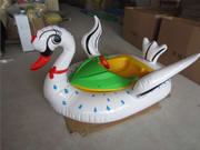 Commercial Swan Design Inflatable Bumper Boat for Kiddies