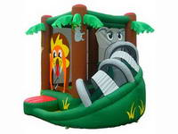 Mini Palm Tree Inflatable Jumper House with Swerve Slide