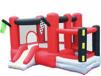Inflatable Full Color Red Bounceland Dream Castle Bounce House
