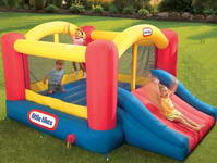 7ft Inflatable Racing Slide and Slam Bounce House
