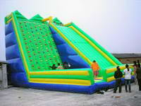 High Quality 2 In 1 Giant Inflatable Rock Climbing Wall and Slide Combo for Sale