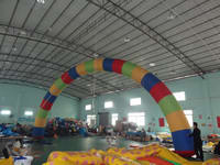 Commercial Grade Rainbow Inflatable Arch for Advertising