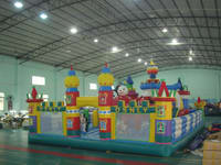 Factory Direct Shipping Inflatable Disney Fun City for Amusement Park