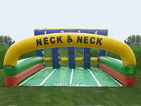 Inflatable Derby Pony Hops Race Track Interactive Game