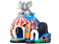 Inflatable Elephant Disco Bouncy Castle for Sale