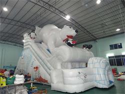 New Design Big Polar Bear Inflatable Slide for Sale