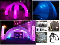 Good Quality LED Lights Tent Lighting Inflatable X Gloo Dome Tent Rental in Toronto