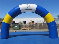 20 Foot Air Sealed Blue Round Inflatable Standard Arch