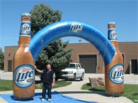 Custom 20 Foot Airtight Inflatable Truss Arch Display on Promotions
