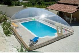 Inflatable clear dome for swimming pool