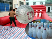 Newly Created Inflatable Human Bowling Sports Challenge