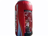 Coca Cola Can Branded Inflatable Money Booth