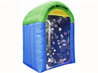 Most Popular Blue and Green Inflatable Cash Money Machine